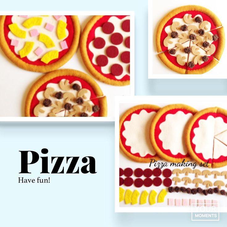 """いいね!59件、コメント1件 ― @etsy_tomomohandmadeのInstagramアカウント: 「Felt food """" Pizza making set """" Ready to ship I raised the prices of the Pizza set in the new…」"""