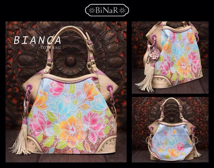 My beautiful bag, Bianca from Binar bag. Made from Hokontul Batik, Magnolian series with grinsing background and baby blue color, embroidery outline decorated in every parts of flowers.