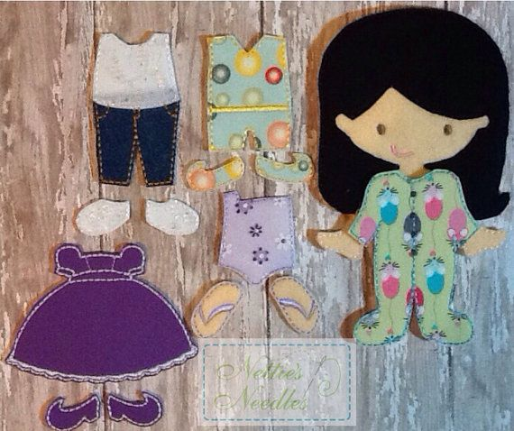 NEW Felt Girl Doll Mini Starter Set on Etsy, $26.00