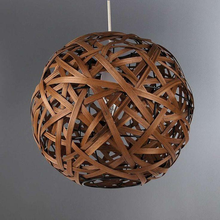 Apollo Bamboo Ball Pendant   Dunelm