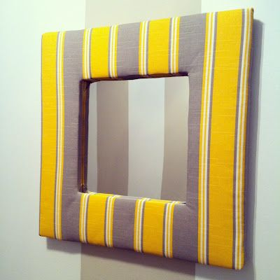12 best images about fabric covered mirrors on pinterest for Fabric picture frames