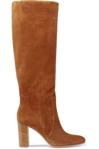 Gianvito Rossi - Suede Knee Boots - Brown - IT40.5
