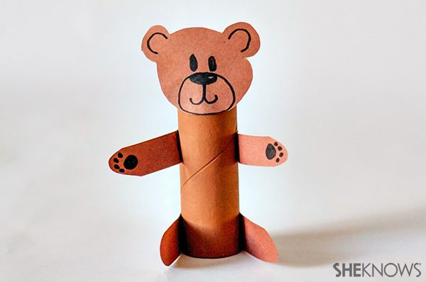Bear animal craft | Sheknows.com Made this with materials I already had laying around the house!