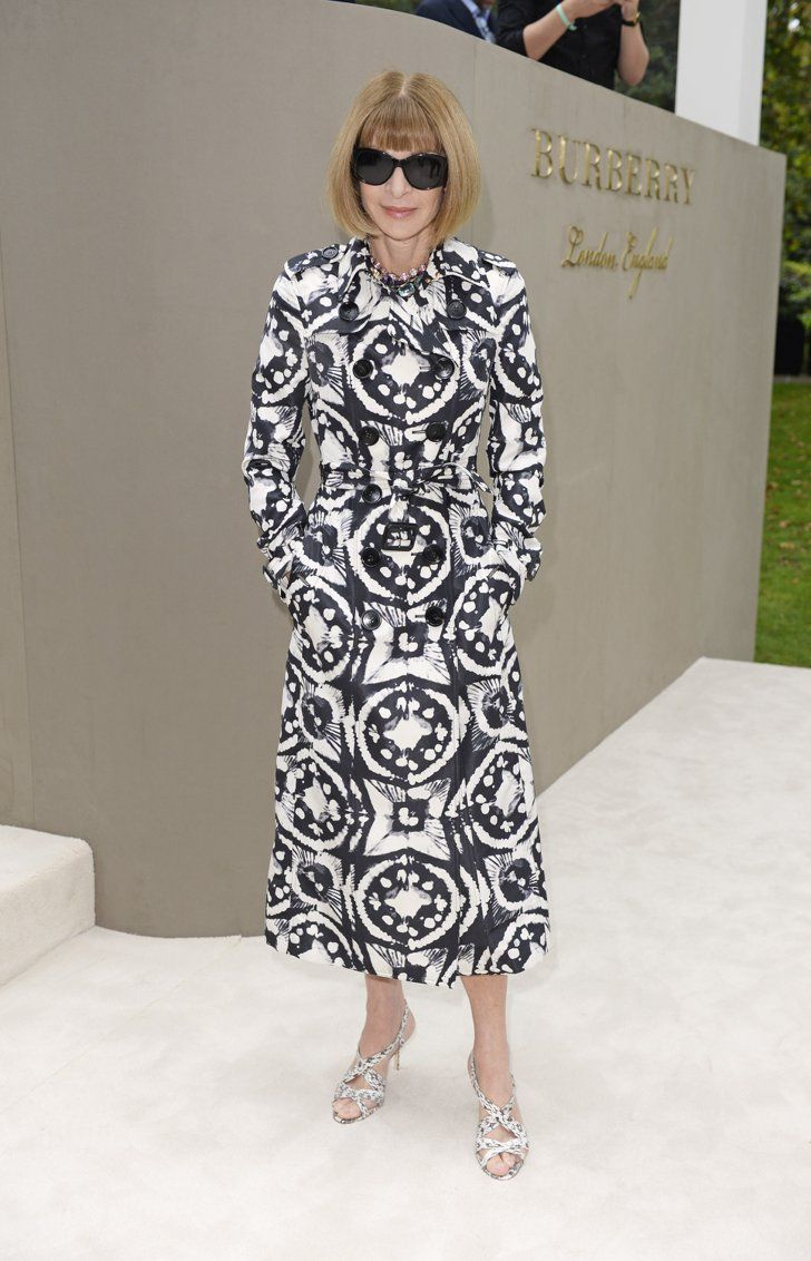 Pin for Later: The Stars Are Looking Quite Stylish Over in Milan Anna Wintour It was black and white all over for the famous editor.