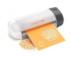 Silhouette Cutter    Works great on embossing folders, is more compact than it's competitor. The silhouette cutter is very portable, you'll find it very useful. It performs flawless giving you even cuts with no cracking sounds.