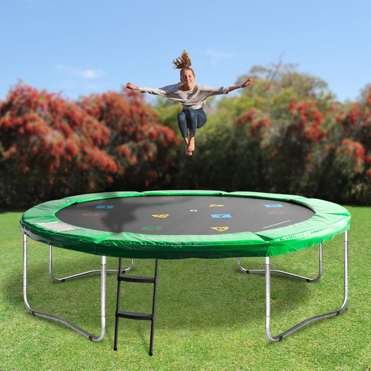 Our Oz Trampolines '12ft Round Trampoline' is the perfect mid-sized family trampoline without safety net.  Designed with fun in mind, this brightly coloured, uniquely designed trampoline is perfect for hours of trampoline entertainment fun.