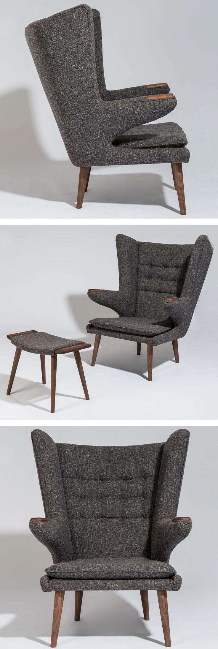 Mist comfortable chair in the world: Hans Wegner Style Papa Bear Chair
