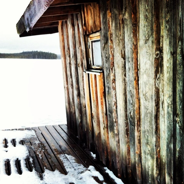 Winter sauna at Kolarbyn