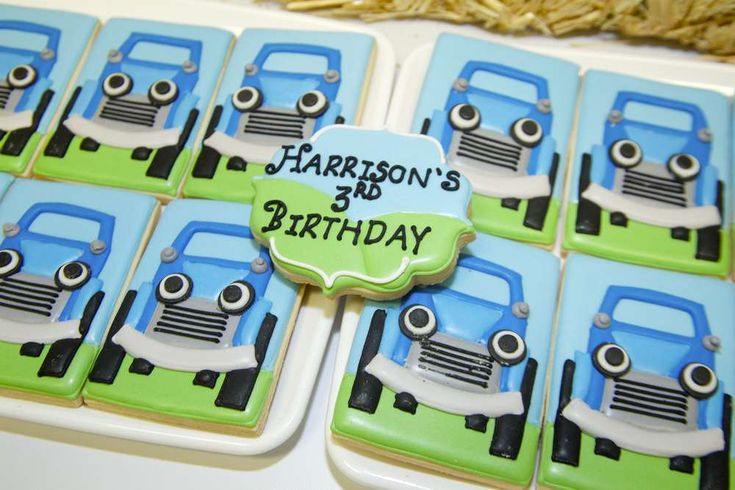 Fun cookies at a cars and trucks birthday party! See more party ideas at CatchMyParty.com!
