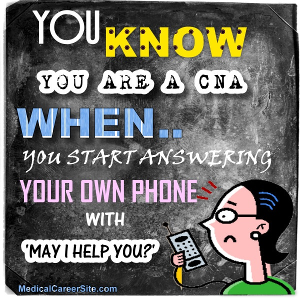You start answering your own #phone with 'May I help you? LOL, I do this all the time and then I feel dumb.