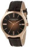 Stuhrling Original Men's 490.3345K14 Classic Cuvette II Swiss Quartz Date Rose-Tone Watch