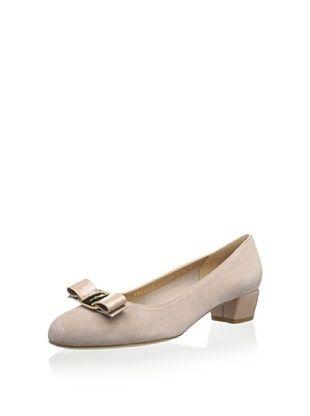50% OFF Salvatore Ferragamo Women's Vara 1 Ballet Flat (Beige)