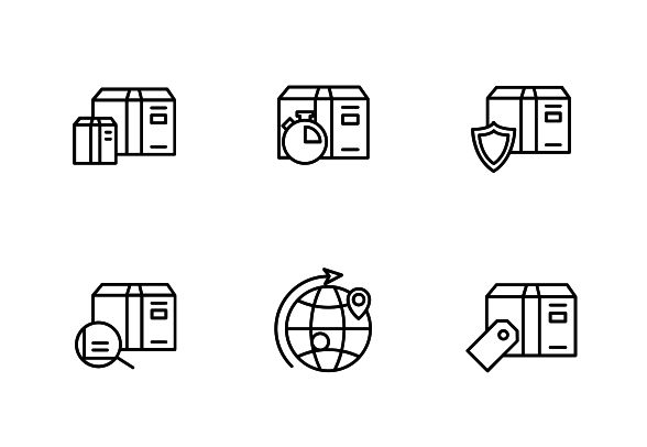 "This set contains 10 line vector icons design into the ""Shipping, Delivery, & Fulfillment"" category. #LineIcons #VectorIcons #deliveryIcon"