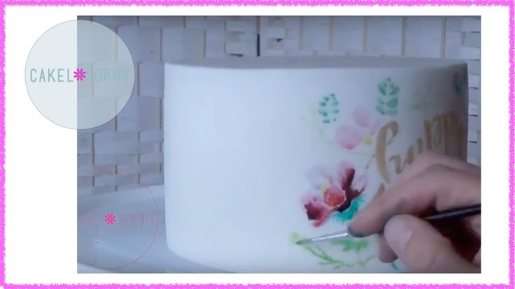 PAINTING Watercolour on FONDANT The EASY Way!