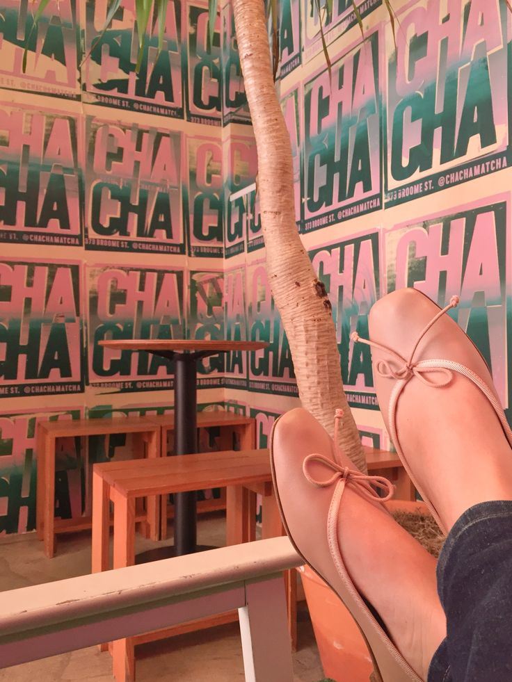 Cha cha at Cha Cha Matcha ❤ with Josefinas Pink Power #josefinasportugal