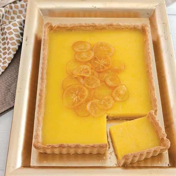Louisiana citrus shines in this Meyer-Lemon Buttermilk Tart.