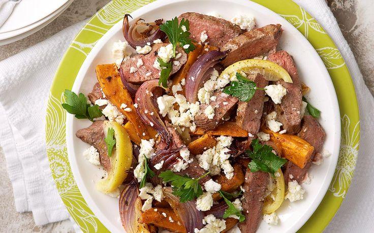 Lamb and kumara salad