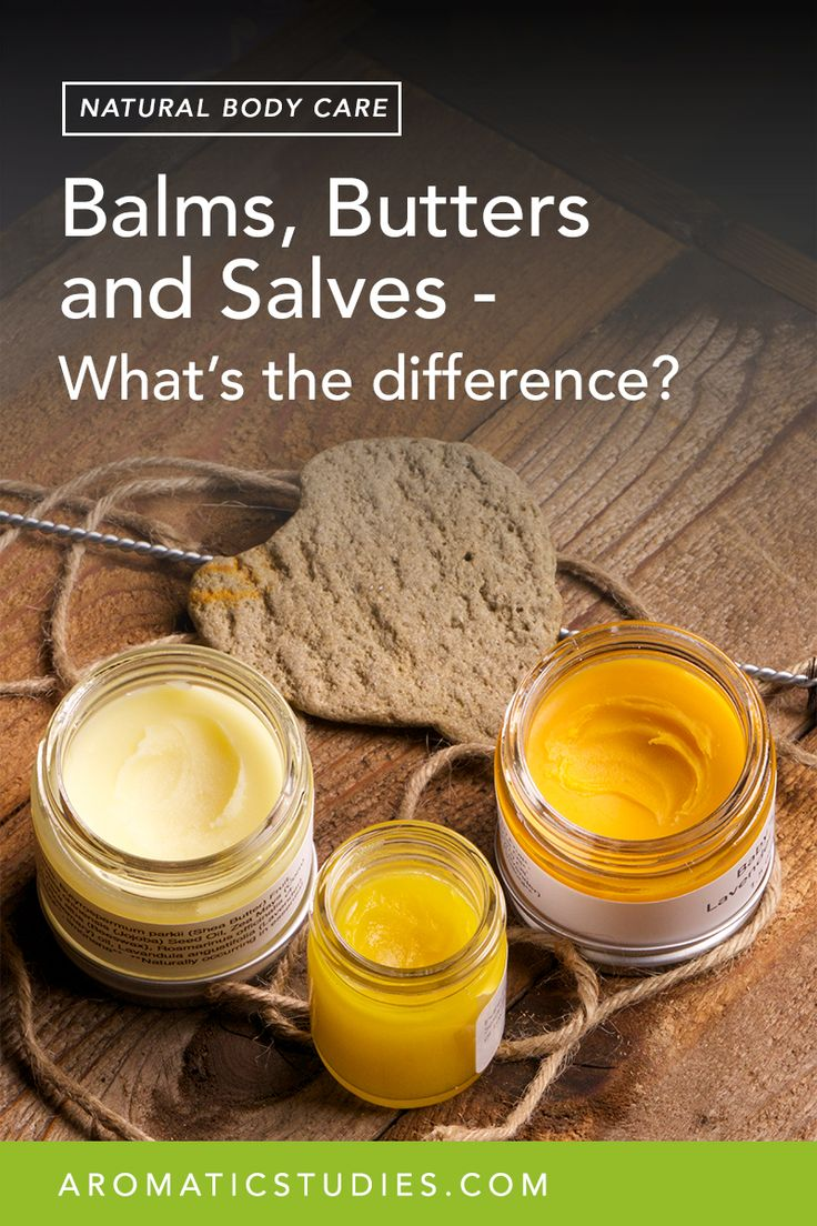 Butters, Balms, and Salves – What's the difference? via @https://www.pinterest.com/aromaticstudies