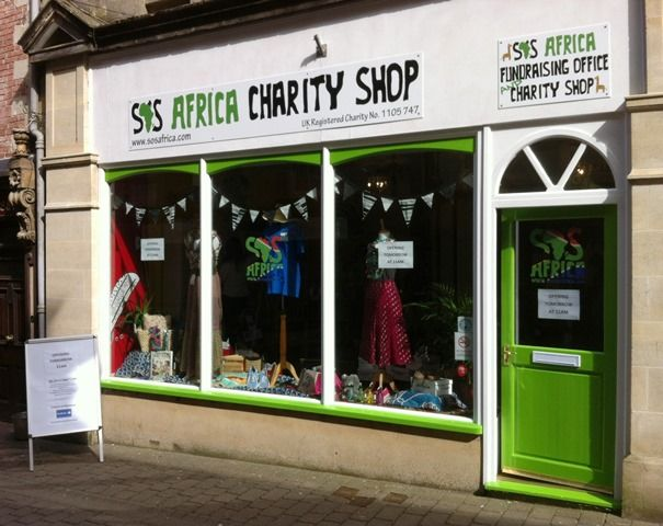 The SOS #Africa #CharityShop in #SheptonMallet...