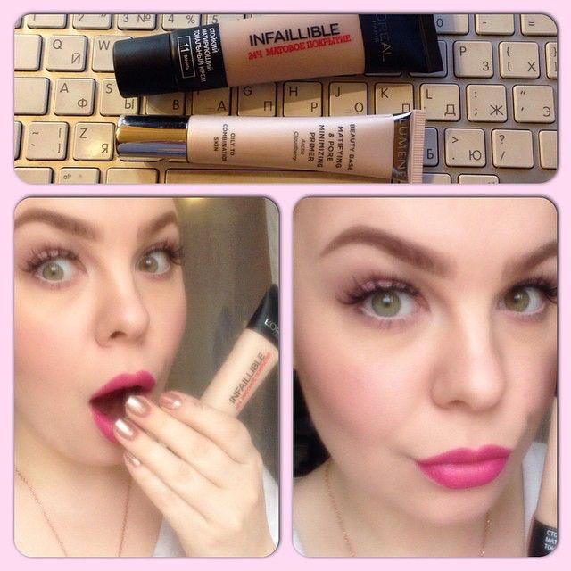 #визажист #визажистэтоболезнь #макияж #макияждляневест #япокупаютольконеобходимое #безупречнаякожа #тональныйкрем #model #mac #makeup #makeupartist #makeupforever #inglot #inglotrussia #lips #lipstick #loreal слева - лицо человека, который купил тональный крем за 500 рэ от скуки, когда шатался по рив гошу и попробовав, понял, что это ЛУЧШИЙ ТОНАЛЬНЫЙ КРЕМ ЭВЕР!  L'Oreal infallible , матовое покрытие 24 часа. Фото без фильтров, просто дневной свет. Я, как обладатель  жестко расширенных пор…
