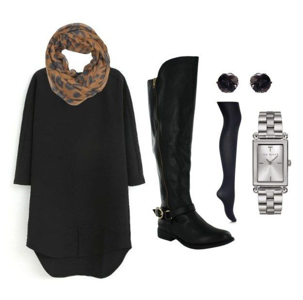 This chill dress and riding boots. | 17 Impossibly Comfy Outfits To Wear To Work This Winter