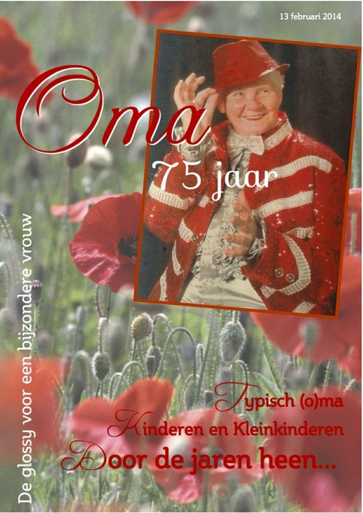 """Marielle Verboog stuurde Jilster haar verhaal rond het maken van een tijdschrift voor haar oma. """"Ik heb het tijdschrift gemaakt omdat mijn oma 75 jaar werd. Het redactieteam bestond uit mijn moeder, mijn oom en ikzelf. Het was niet de eerste keer dat ik een tijdschrift heb gemaakt, maar het blijft leuk om te doen! Tijdschrift maken is een erg leuke hobby."""" http://www.jilster.nl/nieuws/362/marielle-maak-gebruik-van-de-voorbeeld-layouts"""
