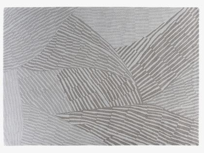 ETCH GREYS Wool Large grey wool rug 170 x 240cm - HabitatUK
