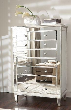 Mirrored Dresser Glam Furniture Mirrored Furniture Glam