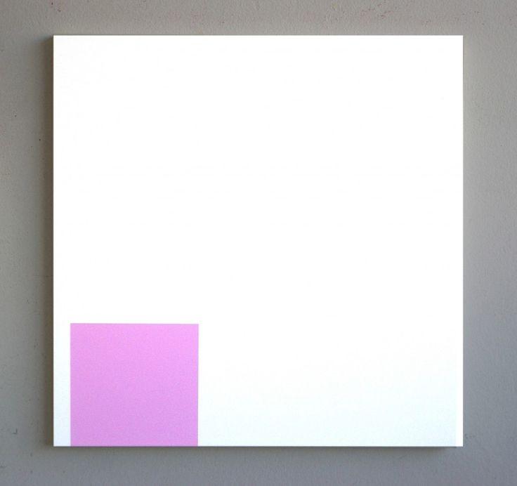 "Francis Baudevin [Switzerland] (b 1964) ~ ""Voltaren Ophta"", 2012. Acrylic on canvas (96 x 95 cm).   #art #painting #hardedge #abstract #minimalart"