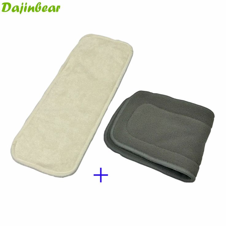 2PCS/Lot 4 Layer Bamboo panty Charcoal Cotton cloth diapers Inserts Nappy changing mat Baby Diapers Reusable diaper changing pad