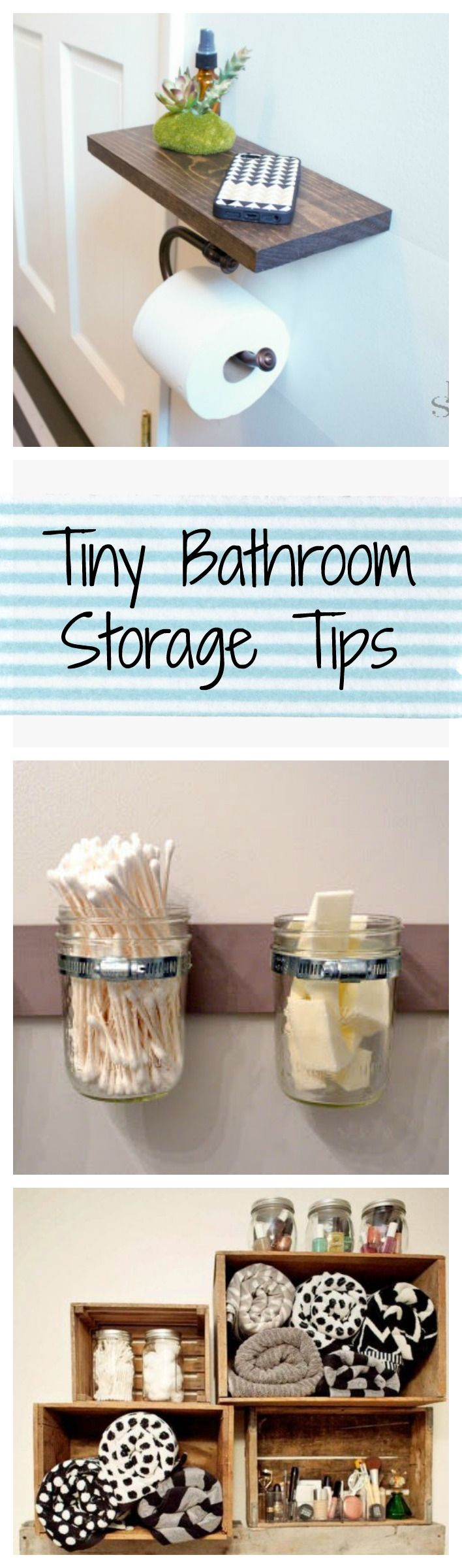 No space? No problem. Try these clever and easy storage tips to make the most of a tiny bathroom.