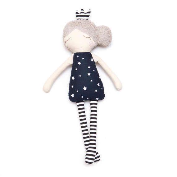 Rag Doll Sleeping Princess Stuffed Toy Nursery Decor