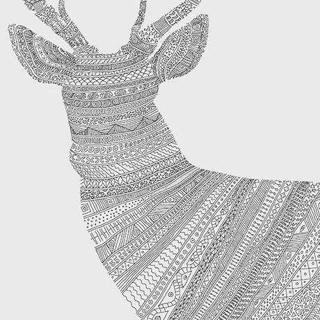 Stag on Grey - alt_image_one