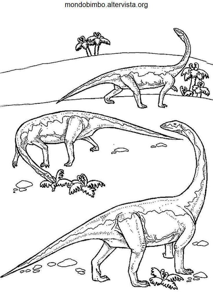 13 besten dinosauri disegni da colorare bilder auf