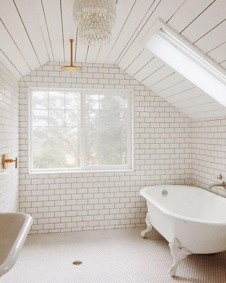 48 Awesome Attic Bathroom Design Ideas Bathroom Design Bathrooms Remodel Loft Bathroom