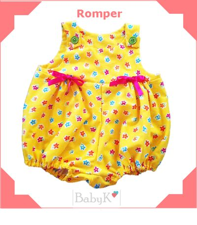 Your baby girl will brighten up your day in this lovely BabyK Romper.