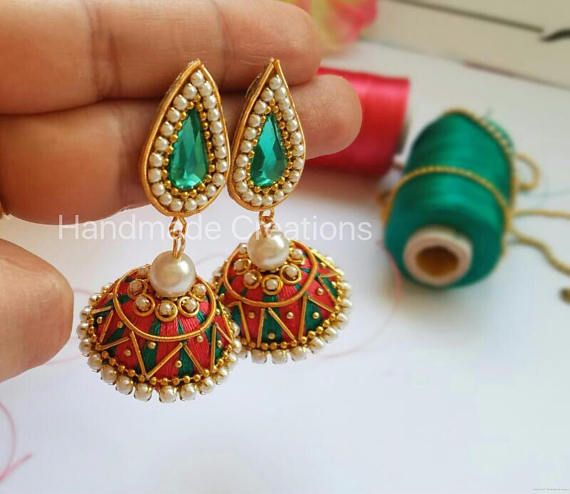 Silk Thread Jhumkas for reference only
