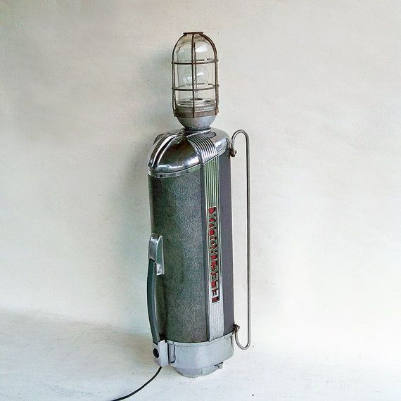 "1940s Electrolux Vacuum Cleaner Upcycled Lamp ""Industrial Rocket Chrome Splendor"""