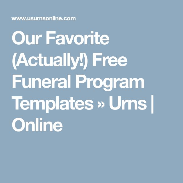 Free Funeral Program Templates » Urns | Online  Order Of Service Template Free