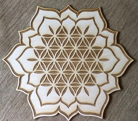 Flower Of Life Lotus Crystal Grid Lotus Crystal Grid 3 6 Flower