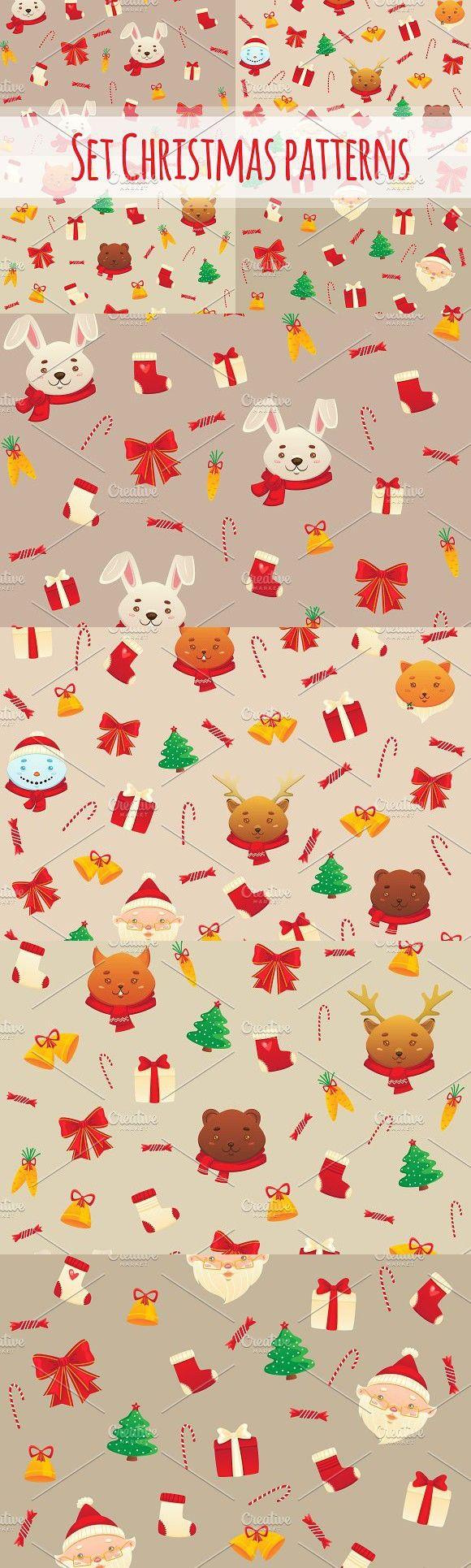 Set Christmas and New year's pattern. Patterns. $5.00