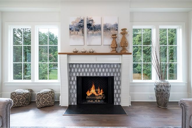 Windows Flanking Fireplace We can't get over the abundance ...