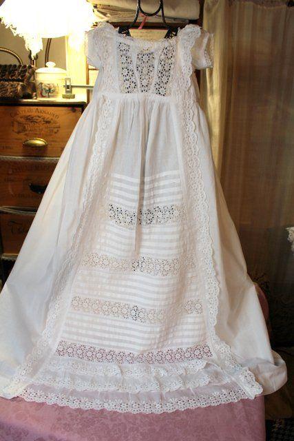 92991ccac6e1f Linge ancien : Robe de baptême ancienne 4 | Couture | Robe bapteme ...