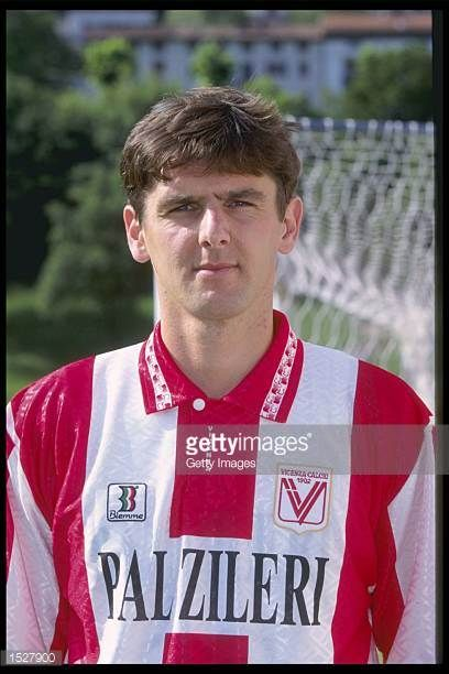 A portrait of Massimo Beghetto of Vicenza taken during the club photocall Mandatory Credit Allsport UK