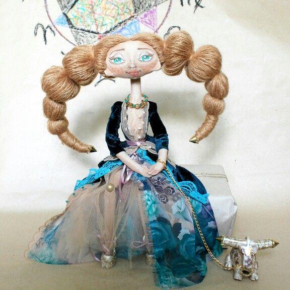 Кукла-зодиак Телец- авторская ручная работа doll handmade