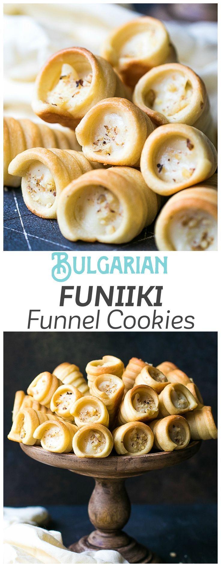 Custard Filled Pastry Horns Recipe (Funnels/Funiiki) via @cookinglsl