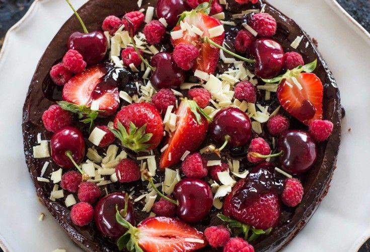 Dark Chocolate and Cherry Cheesecake - Nadia Lim