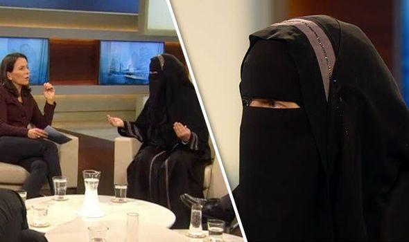 Nora Illi http://www.express.co.uk/news/world/729814/German-talk-show-slammed-niqab-clad-guest-blames-JIHAD-Islamophobic-westerners
