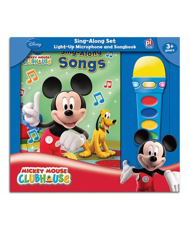 Look what I found on #zulily! Mickey Mouse Clubhouse Sing-Along Songs Hardcover  Microphone by Mickey Mouse #zulilyfinds
