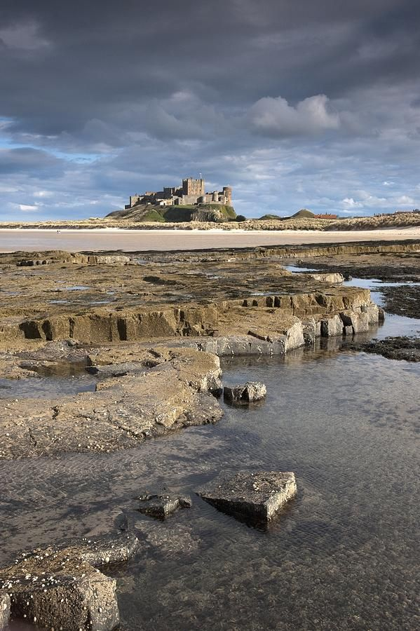 ✮ Bamburgh, Northumberland, England - Bamburgh Castle In The Distance. One of my favourite places.